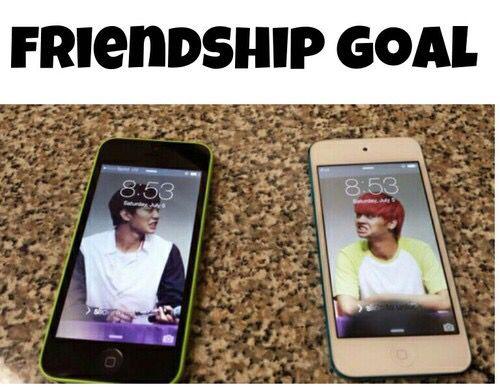 Hahaha!! Yesss!! XDD friendship goal. Hongbin and N