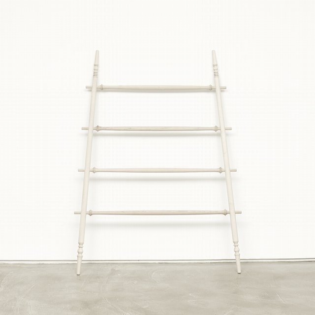 oh I wish I could afford this orchard ladder by Paul Loebach. My pillow covers would look perfect hanging from this piece~