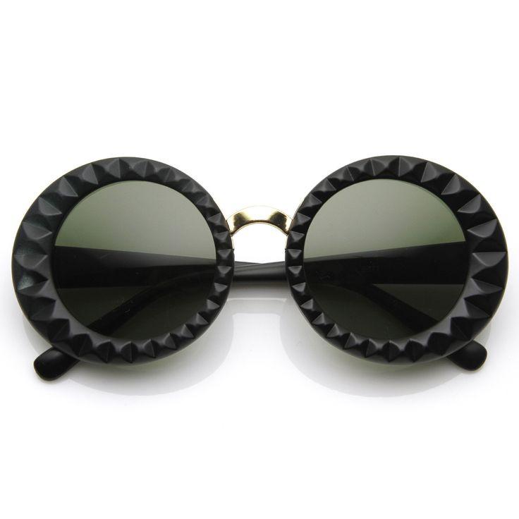 Designer Inspired Fashion Round Circle Womens Sunglasses 8772 from zeroUV