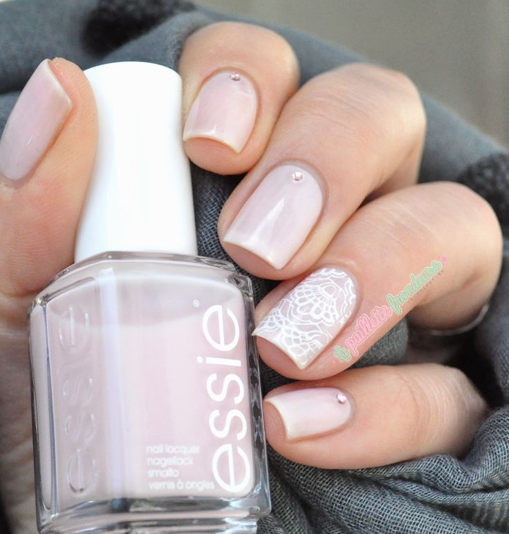 Essie bridal collection 2015 Tying the knotie - wedding lace nail art