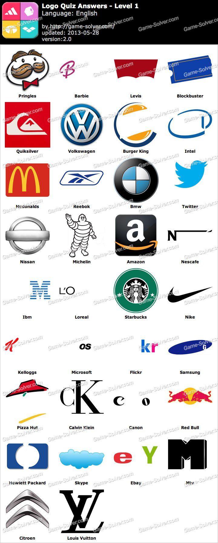 Logo Quiz Answers (With images) Logo quiz, Logo quiz