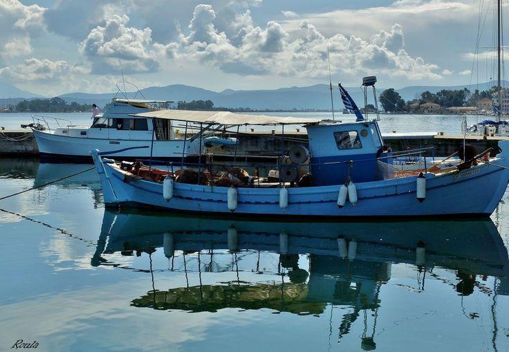 Boats..... by Roula Lekka
