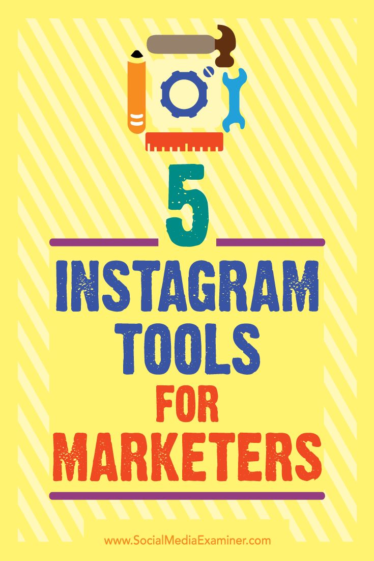Want to manage Instagram more efficiently?  Looking for new tools to improve your Instagram marketing?  In this article, you'll discover five tools to help you manage your presence on Instagram and grow your community. Via @smexaminer.