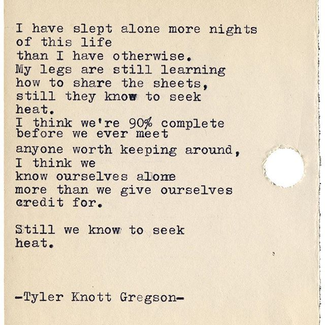 Typewriter Series #2136 by Tyler Knott Gregson