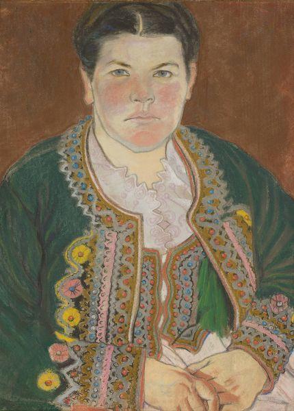 Portret żony w serdaku - Stanisław Wyspiański