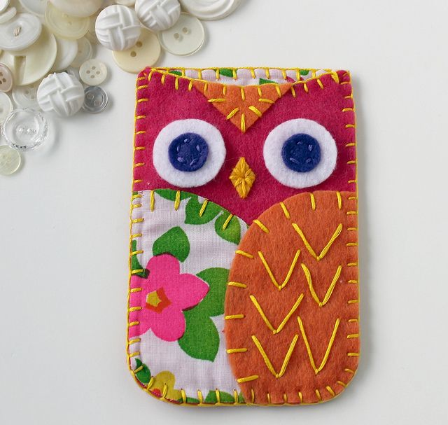 owl phone case - @Andrea / FICTILIS / FICTILIS St Onge this could be like the silverware holder you got at Hobby Lobby.