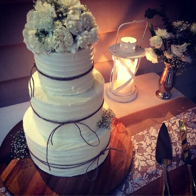 Caramel mud cake as our wedding cake! It was so good!