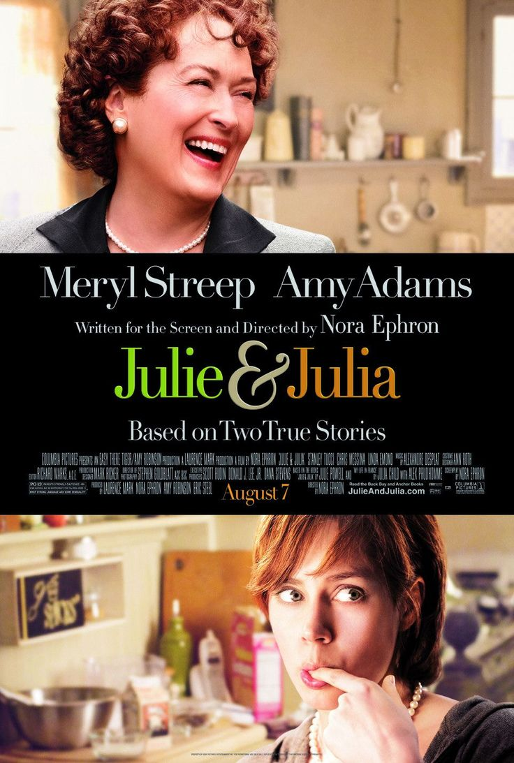 Julie & Julia. Absolutely LOVED this movie from start to finish!