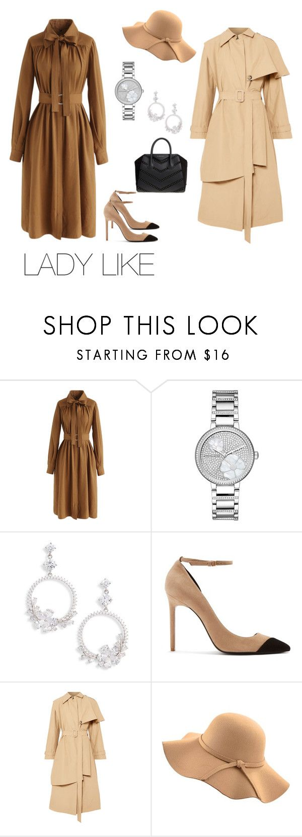 """""""LADY LIKE"""" by e-matytsyna on Polyvore featuring мода, Chicwish, Michael Kors, Nina, Yves Saint Laurent, A.W.A.K.E., WithChic, Givenchy и ladylike"""
