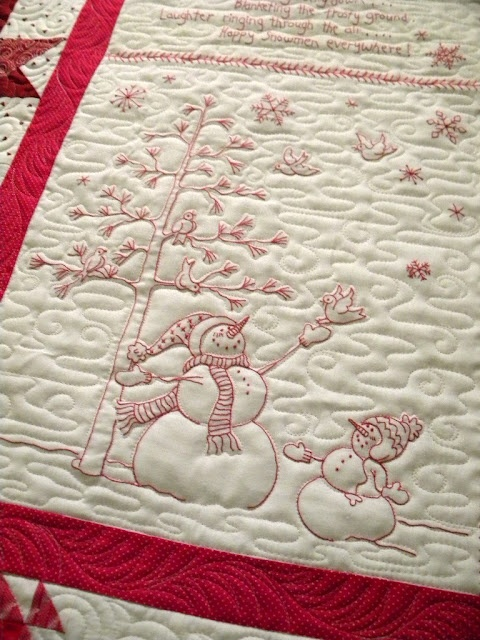 Love this quilt and REALLY LOVE the way Jenny quilted it...looks like swirling snow!!!  Jenny's Doodling Needle