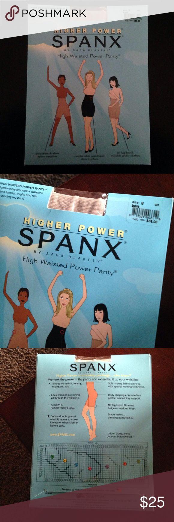 NWT Higher Power Spanx. Size B. Retail price: $36. NWT Higher Power Spanx by Sara Blakely. Size B. Retail price: $36. SPANX Accessories Hosiery & Socks