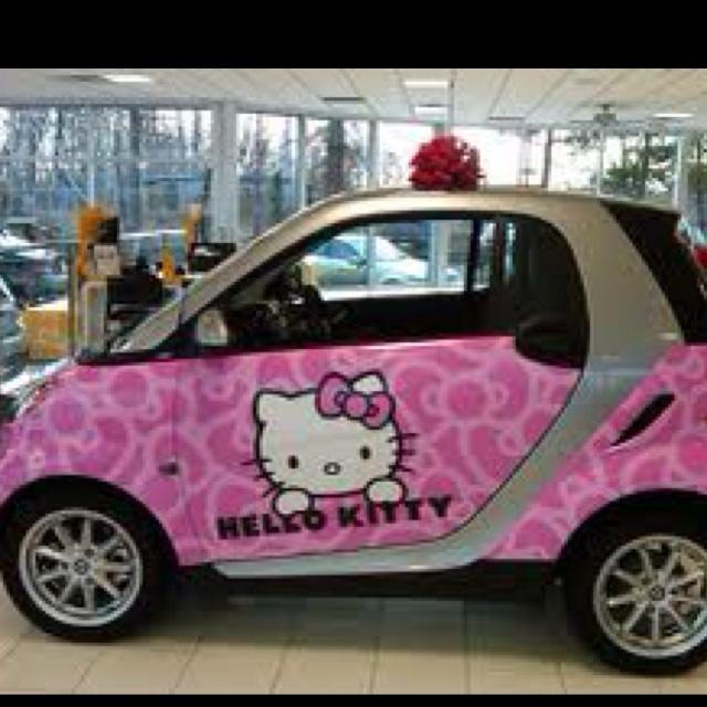 Hello Kitty Smart Car!!! Love!