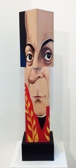 Rubén López, Simón Bolívar / Acrílico/ Madera / 91 x 21 x 21 cm / 2014