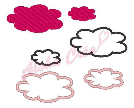 Motif broderie machine Pack nuage plein-appliqué 16 par AlohaCrea