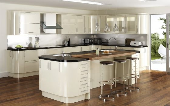 High Gloss Curved Kitchen Cabinets Bing Images