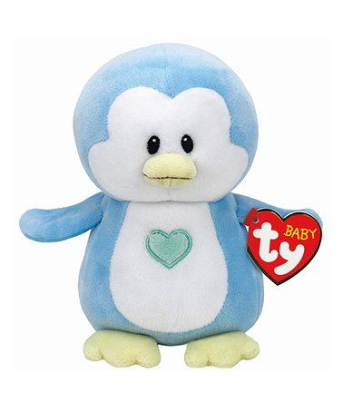 Blue Twinkles Penguin Beanie Ty Plush Toy #zulily #zulilyfinds