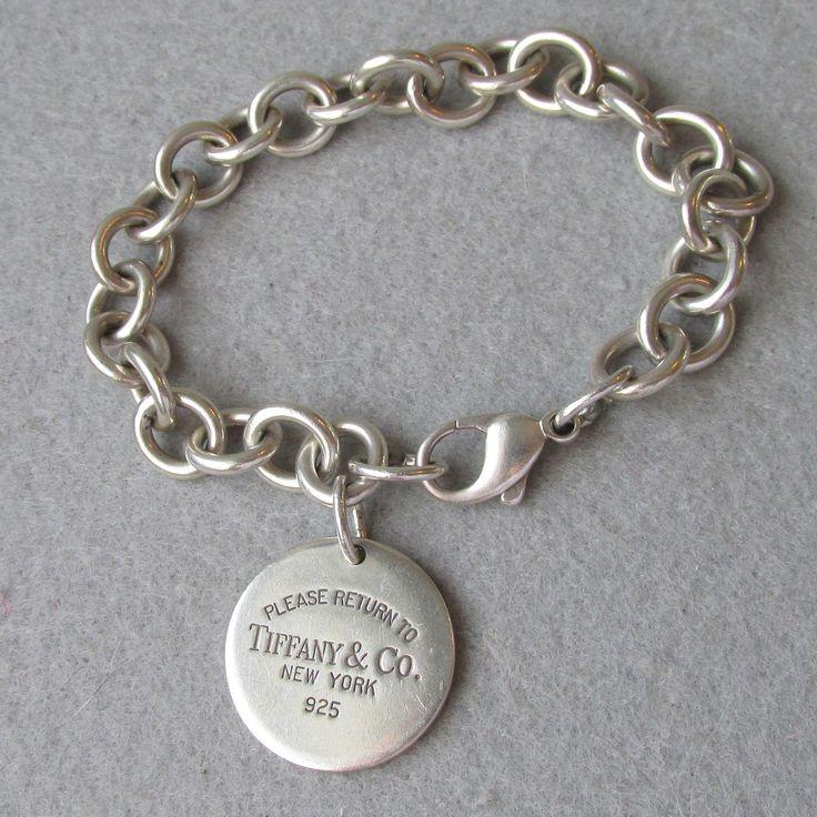 Tiffany Heart Bracelet >> Vintage Return to Tiffany & Co. Sterling Silver Bracelet ...