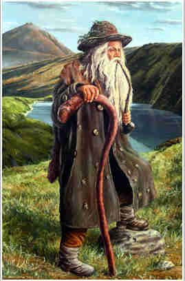 Spirit Mountain - Giant Mountains, Czech Krakonoš.  Illustration: sudety.blox.pl