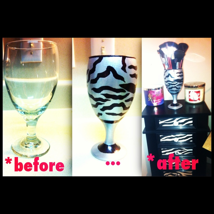 51 best painted glasses for holidays images on pinterest for Type of paint to use on wine glasses