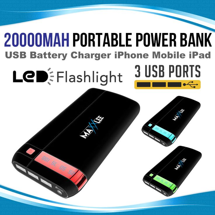 20000mAh Portable Power Bank Battery Charger| Elinz