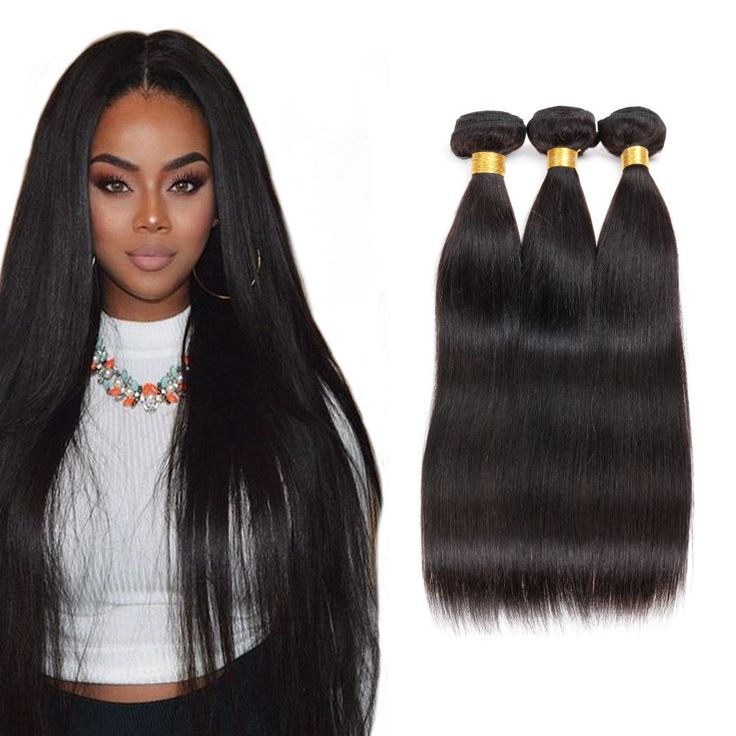 37 best natural black straight hair extensions images on pinterest 100 unprocessed indian virgin human hair extension straight weave weft 3 bundle pmusecretfo Images