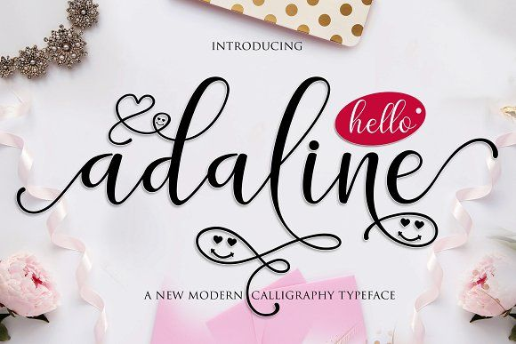 Adaline Script | 5 fonts by MrLetters on @creativemarket