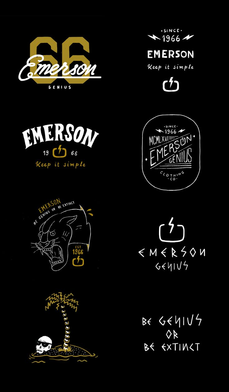 Illustrations & Typography for Emerson Clothing Company.Spring / Summer Collection 2017