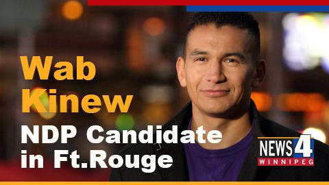 Feb 2 - Former CBC personality, Wab Kinew will run as the NDP candidate in Ft. Rouge against Liberal Leader Rana Bokhara