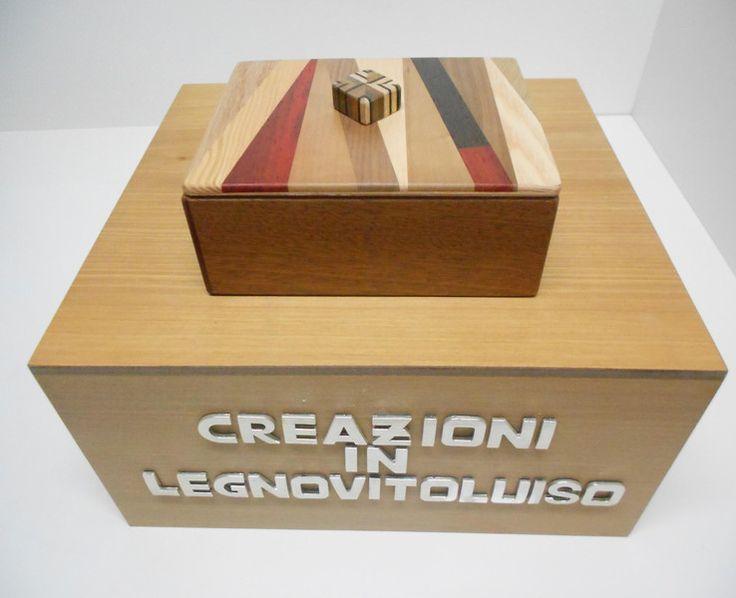 SCATOLA IN LEGNO RETTANGOLARE CON COPERCHIO  -3- di creazioniinlegnovitoluiso su DaWanda.com