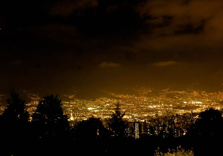 We love Medellin! This is the view from the Mirador in Las Palmas by night. #night #view #welovemedellín #City #bigcitylife #lights #colombia #Medellín #travelandmakeadifference