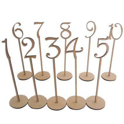PIXNOR 20ST Basis 1-20 Wodden Tischnummern mit Halter für die Dekoration (Holz Farbe): Amazon.de: Baumarkt                                                                                                                                                      Mehr