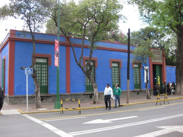 The Blue House, the former residence of Mexican artist Frida Kahlo, now the Museo Frida Kahlo