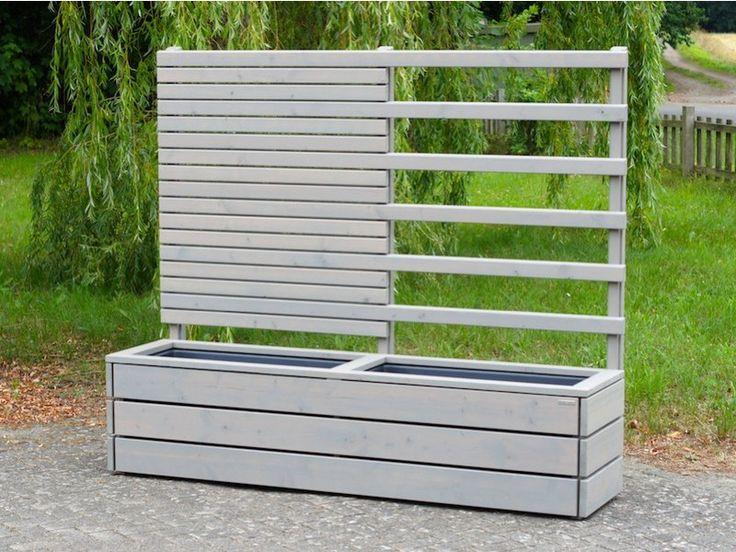 40 besten sichtschutz pflanzkasten mit rankgitter spalier aus holz bilder auf pinterest. Black Bedroom Furniture Sets. Home Design Ideas