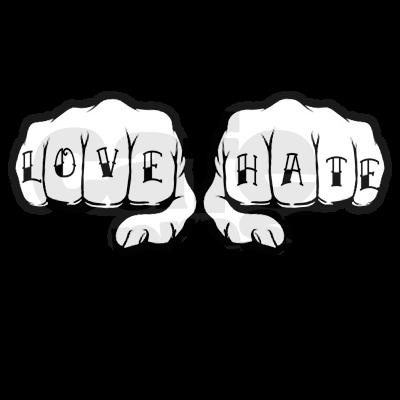 Best 25 love hate tattoo ideas on pinterest pms quotes for Love n hate tattoo