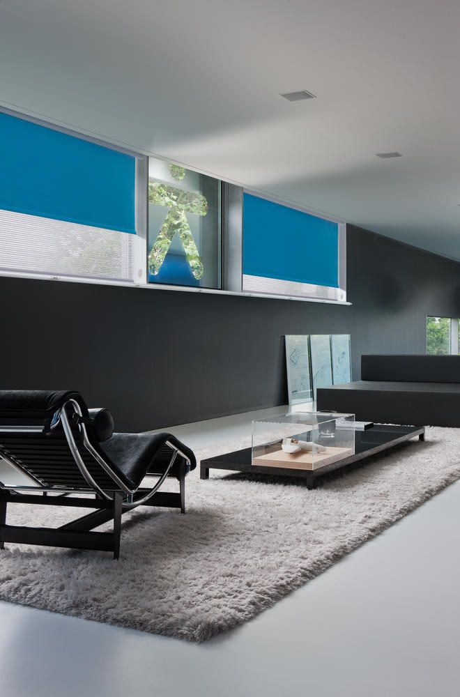 Copahome raamdecoratie rolgordijn blauw / La décoration de fenêtre. Store enrouleurs bleu