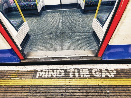 Image result for mind the gap london