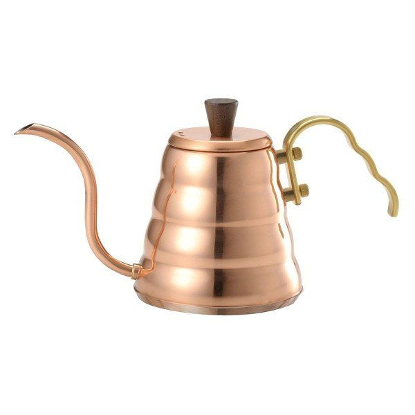This special edition of the Hario Drip Kettle has a gleaming copper finish and an improved shape and design for even better pouring control