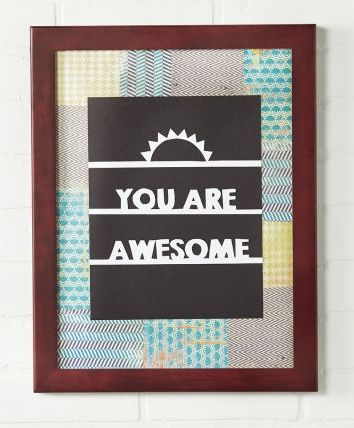 DIY Inspirational Framed Art - remind someone of their awesomeness with this handmade framed art gift.