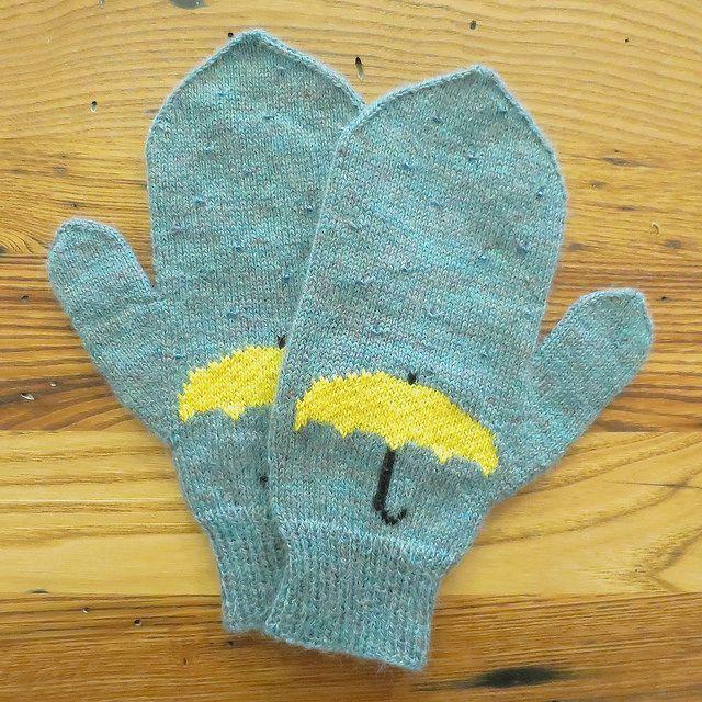 April Showers Mittens by katbaro, via Flickr  -  Free Knitting Pattern
