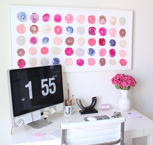 love the desk, art, etc