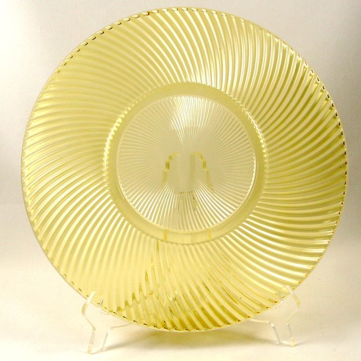 Diana Amber Yellow Depression Glass Platter Plate Federal Vtg  sc 1 st  Pinterest & 29 best Depression Glass ~ Yellow ~ Topaz ~ Canary ~ Sahara ...