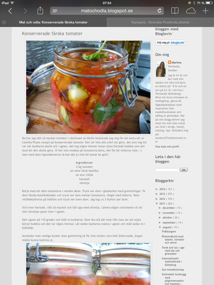 Camilla Plums konserverade tomater