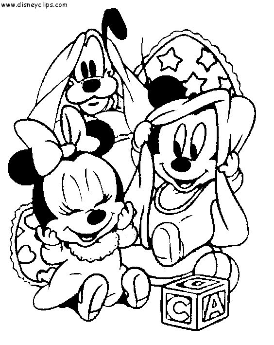 babydisneycoloringpages disney babies coloring pages mickey minnie
