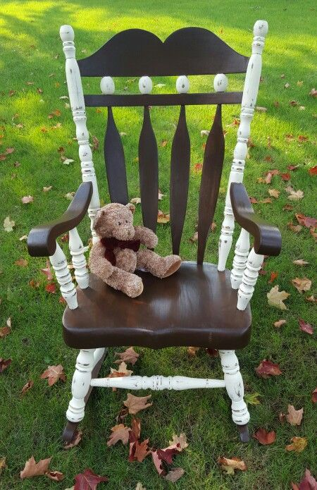 Rocking chair chalk painted and stained.