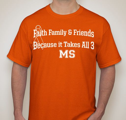 Team Faith Family & Friends~~ Central KY MS Walk ~~ Sept 6, 2014 Fundraiser - unisex shirt design - front