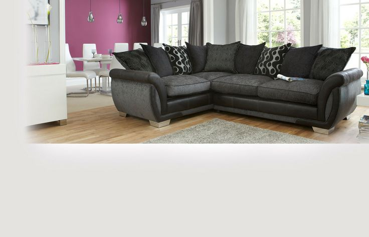 Right Hand Facing 3 Seater Pillow Back Deluxe Corner Sofa Bed Shannon | DFS