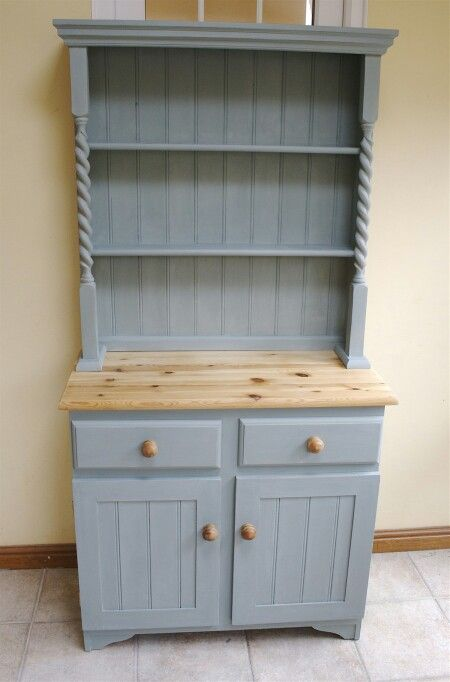 Pine Welsh Dresser In A Mix Of Annie Sloan Duck Egg Blue