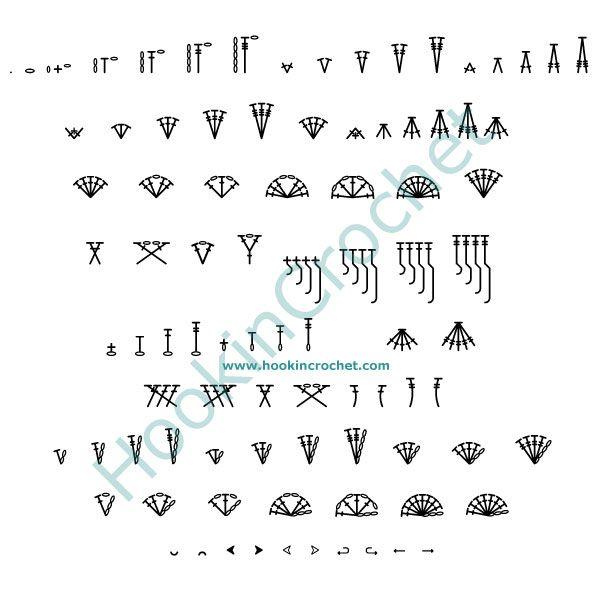 HookinCrochet Symbols 1 Font Software by HookinCrochet�