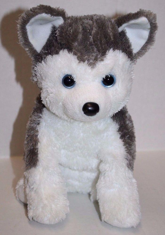 Ty Classic Slush Husky Dog Plush 10 Stuffed Animal 2009 Gray