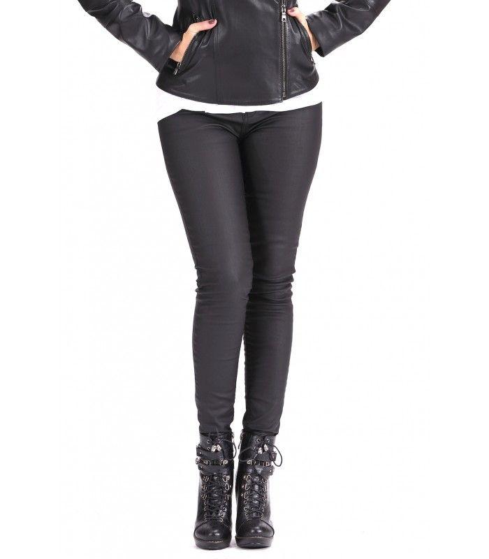 Rita Mumlu Siyah Jeans Mumlu Pantolon Kaplama Pantolon Deri Gorunumlu Pantolon Siyah Kot Siyah Deri Pantolon Sik Siyah Deri Pantolon Siyah Kot Siyah Deri